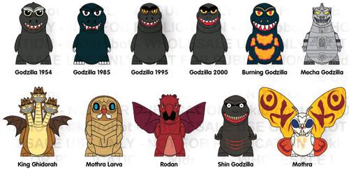King of the Monsters Vinyl Mini Series Godzilla 3-Inch Mystery Pack [1 RANDOM Figure]