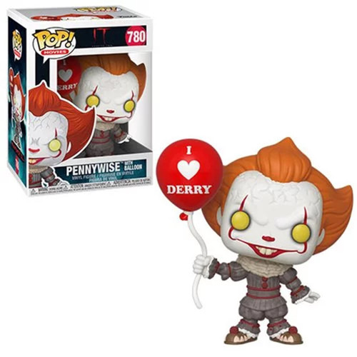Funko IT Movie Chapter 2 POP! Movies Pennywise with Balloon Vinyl Figure #780 [I Heart Derry]