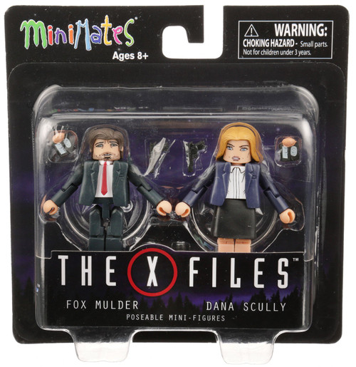 The X-Files Minimates Fox Mulder & Dana Scully 4-Inch Minifigure 2-Pack