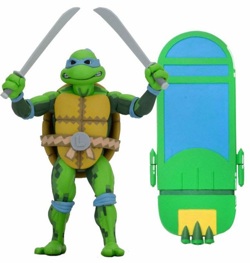 NECA Teenage Mutant Ninja Turtles Turtles in Time Series 1 Leonardo Action Figure