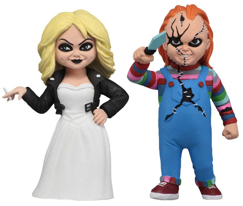NECA Bride of Chucky Toony Terrors Chucky & Tiffany Action Figure 2-Pack