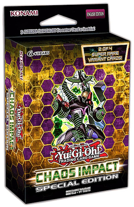 YuGiOh Trading Card Game Chaos Impact Special Edition [3 Booster Packs & 1 RANDOM Promo Card]