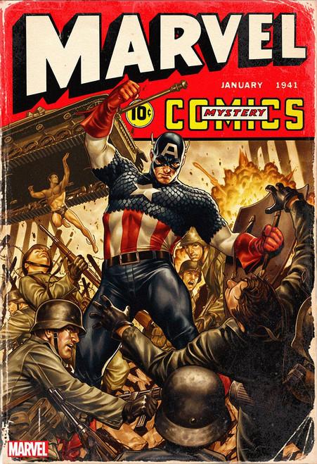 Marvel Comics #1000 Comic Book [Mark Brooks 1940's Variant Cover]