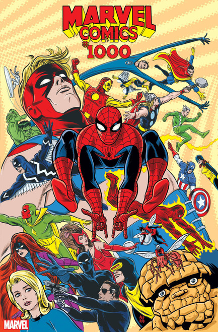 Marvel Comics #1000 Comic Book [Mike Allred 1960's Variant Cover]