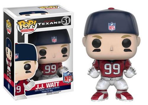 Funko NFL Houston Texans POP! Sports Football J.J. Watt Vinyl Figure #51 [Red Jersey, Damaged Package]