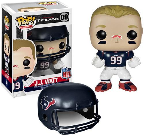 Funko NFL Houston Texans POP! Sports Football J.J. Watt Vinyl Figure #09 [Blue Jersey, Damaged Package]