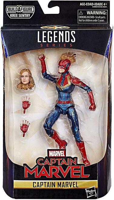 Marvel Legends Kree Series Captain Marvel Action Figure [Red & Blue Suit, Damaged Package]
