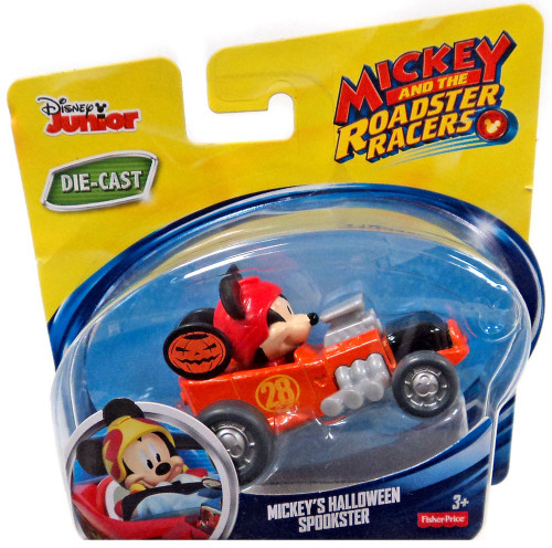 Fisher Price Disney Mickey & Roadster Racers Mickey's Halloween Spookster Diecast Vehicle [Loose]