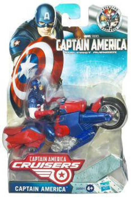 The First Avenger Captain America Crusiers Zoom N Go Power Charge Cycle [Loose]