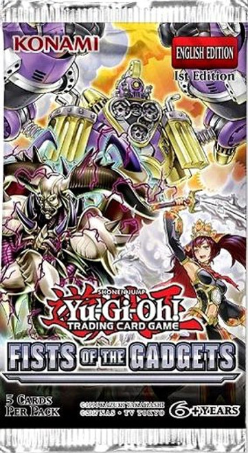 YuGiOh Trading Card Game Fists of the Gadgets Booster Pack