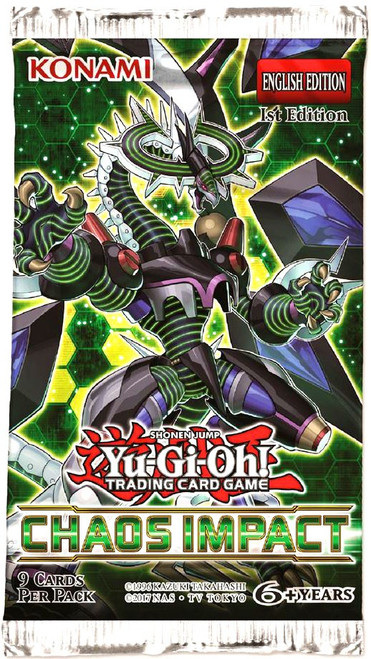 YuGiOh Trading Card Game Chaos Impact Booster Pack