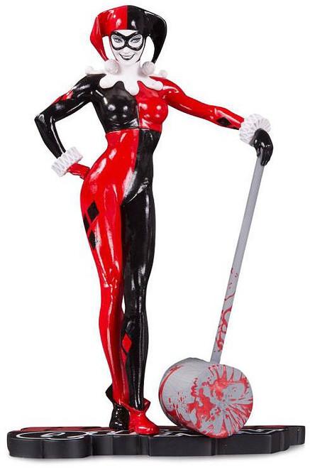 Batman Harley Quinn Red, White & Black Harley Quinn 7-Inch Statue [Adam Hughes]