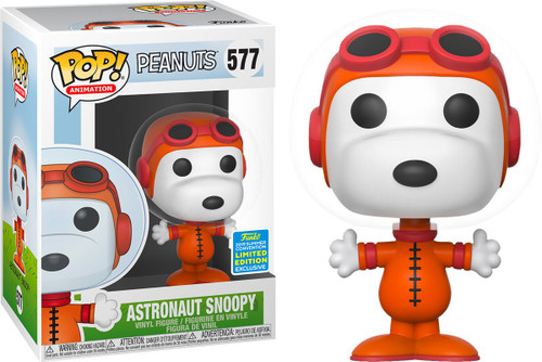 Funko Peanuts POP! TV Astronaut Snoopy Exclusive Vinyl Figures #577