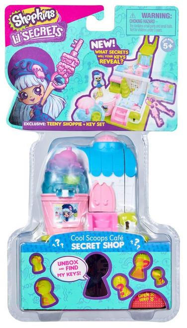Shopkins Lil' Secrets Secret Shop Cool Scoops Cafe Mini Playset