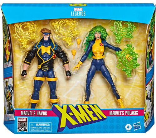 X-Force Marvel Legends Havok & Polaris Action Figure 2-Pack [90's Costumes]