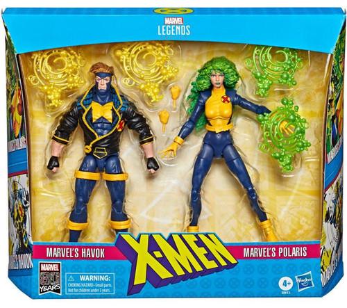 X-Force Marvel Legends Havok & Polaris Action Figure 2-Pack [90's Costumes]