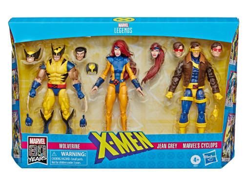 X-Men Marvel Legends Wolverine, Jean Grey & Cyclops Action Figure 3-Pack [90's Costumes]