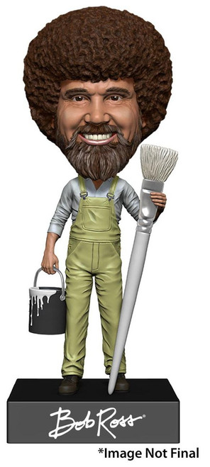 NECA Head Knocker Bob Ross 8-Inch Bobble Head