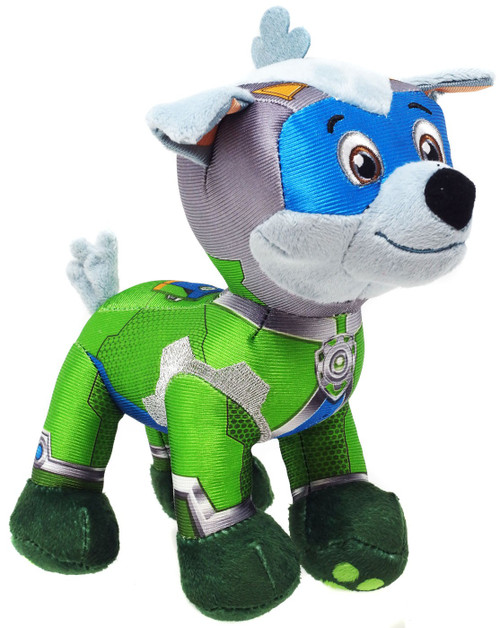 Paw Patrol Mighty Pups Super Paws Rocky 8-Inch Plush