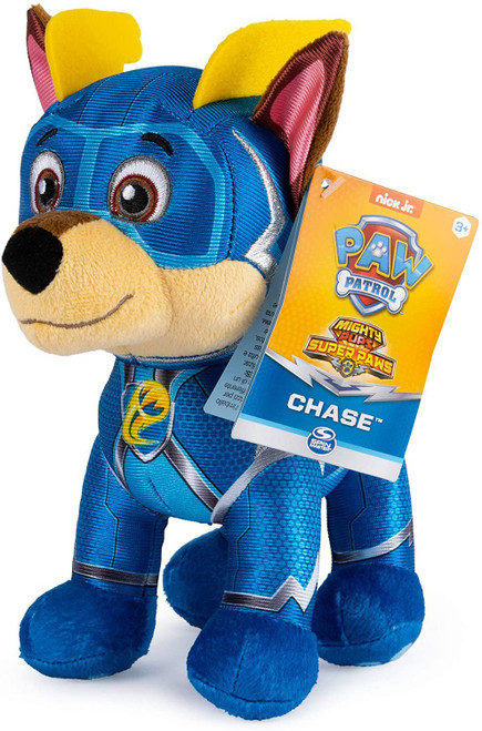 Paw Patrol Mighty Pups Super Paws Chase 8-Inch Plush