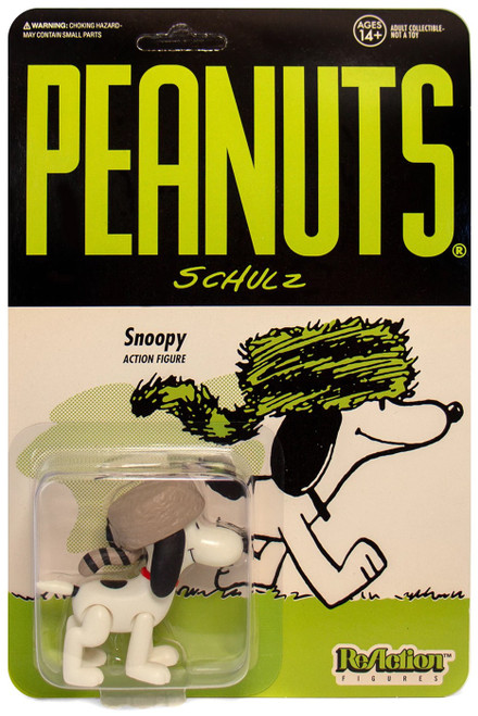 ReAction Peanuts Snoopy Action Figure [Racoon Hat]
