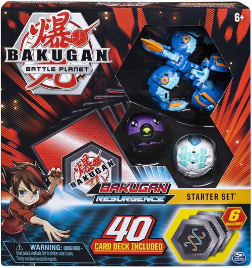 Bakugan Battle Planet Resurgence Aquos Pyravian Starter Set