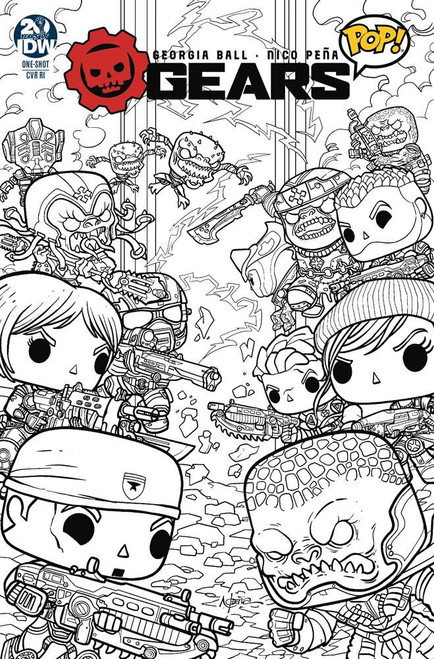 IDW Gears of War Pop #1 One-Shot Comic Book [Nico Pena Variant Cover]