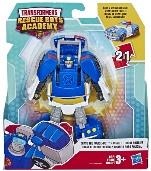 Transformers Playskool Heroes Rescue Bots Academy Chase the Police-Bot Action Figure [Rescue Bots Academy]