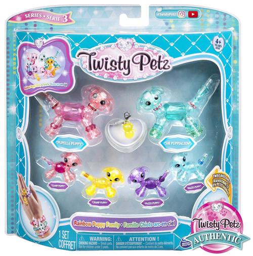 Twisty Petz Series 3 Rainbow Puppy Family Set
