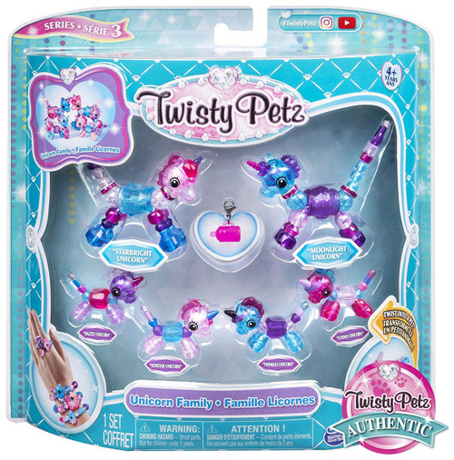 Twisty Petz Series 3 Unicorn Family Set