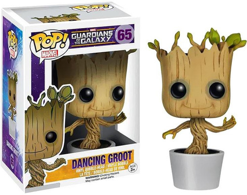 Funko Guardians of the Galaxy POP! Marvel Dancing Groot Vinyl Bobble Head #65 [White Pot, Damaged Package]