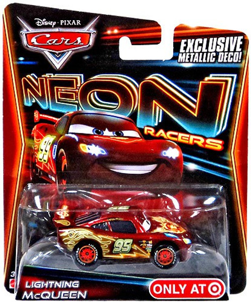 Disney / Pixar Cars Neon Racers Lightning McQueen Exclusive Diecast Car [Metallic Deco]