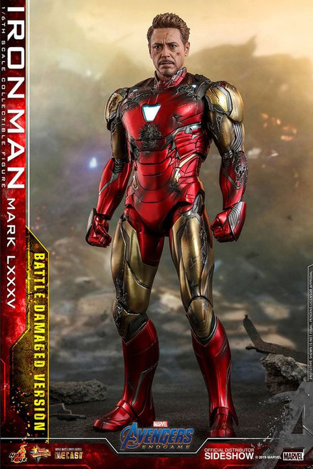 Marvel Avengers Endgame Iron Man Mark LXXXV (Battle Damaged) Collectible Figure MMS528D33 [Non-Refundable Deposit] (Pre-Order ships September 2021)