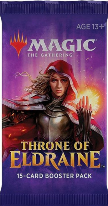 MtG Trading Card Game Throne of Eldraine DRAFT Booster Pack [15 Cards]