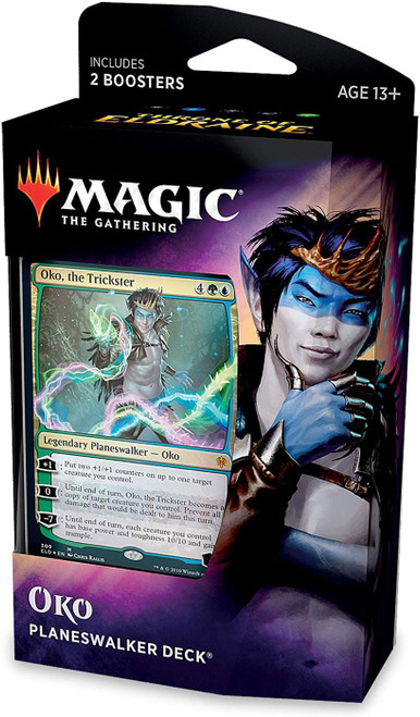 MtG Trading Card Game Throne of Eldraine Oko Planeswalker Deck