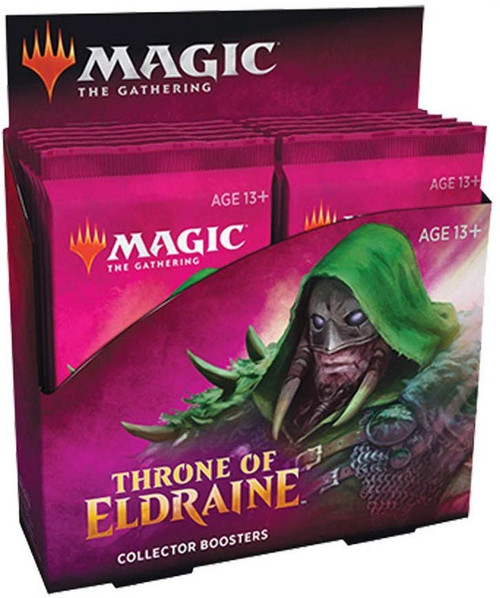 MtG Trading Card Game Throne of Eldraine Collector Booster Box [12 Packs]