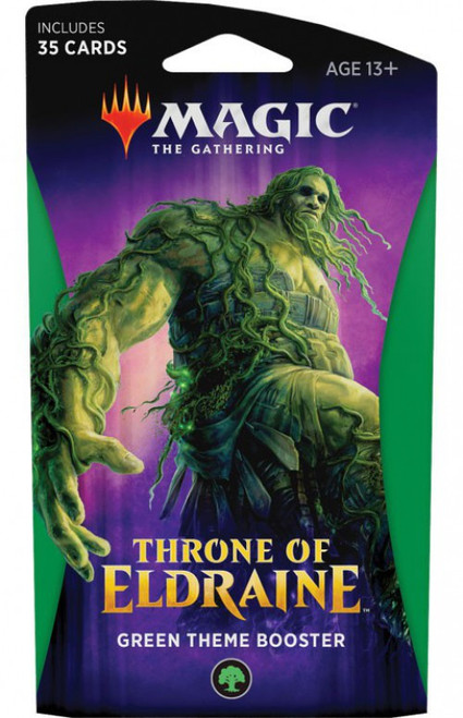 MtG Trading Card Game Throne of Eldraine Green Theme Booster