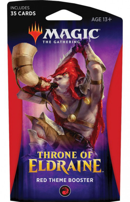 MtG Trading Card Game Throne of Eldraine Red Theme Booster