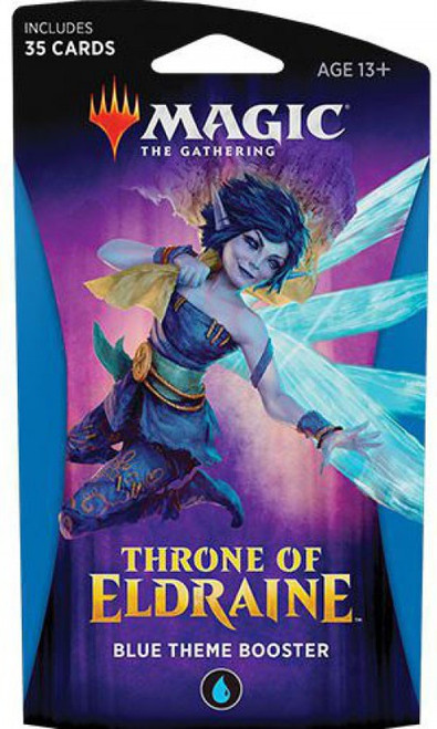 MtG Trading Card Game Throne of Eldraine Blue Theme Booster