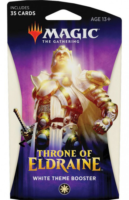 MtG Trading Card Game Throne of Eldraine White Theme Booster