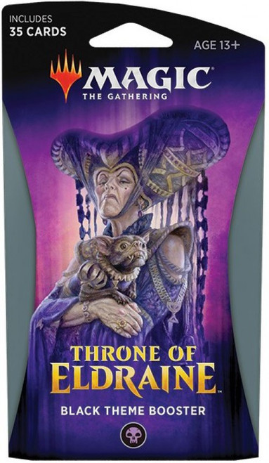 MtG Trading Card Game Throne of Eldraine Black Theme Booster