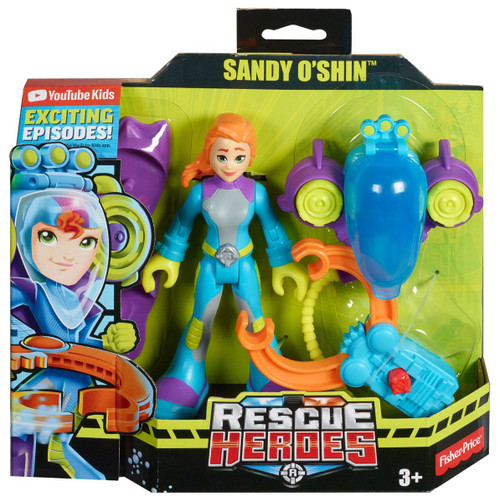 Fisher Price Rescue Heroes Sandy O'Shin 5.5-Inch Figure Set