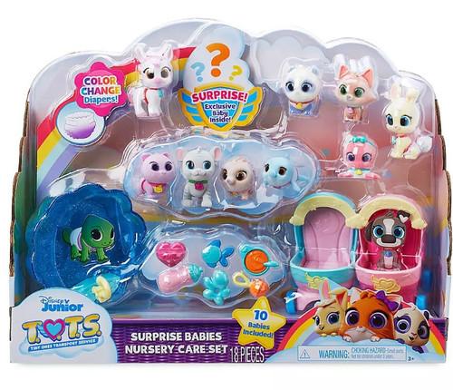 Disney Junior TOTS (Tiny Ones Transport Service) Surprise Babies Nursery Care Set Figure 10-Pack [Version 1]