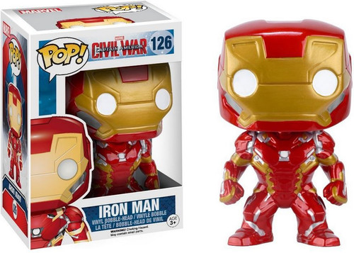 Funko Civil War POP! Marvel Iron Man Vinyl Bobble Head #126 [Civil War, Damaged Package]