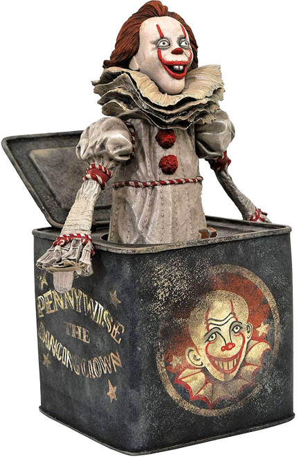 Horror IT Chapter 2 Pennywise in a Box 9-Inch Diorama PVC