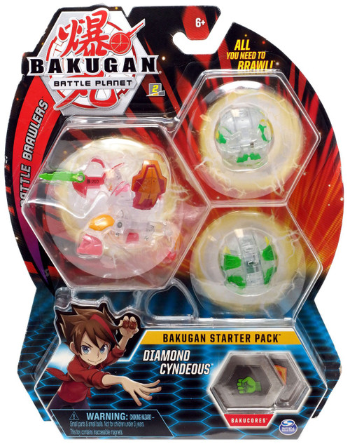 Bakugan Battle Planet Battle Brawlers Starter Pack Diamond Cyndeous 3-Figure Set