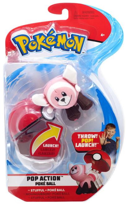 Pokemon Pop Action Poke Ball Stufful & Poke Ball Throw Poke Ball Plush