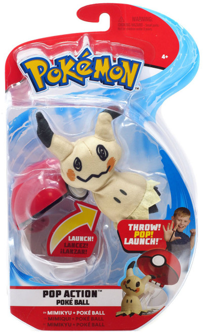 Pokemon Pop Action Poke Ball Mimikyu & Poke Ball Throw Poke Ball Plush