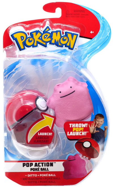 Pokemon Pop Action Poke Ball Ditto & Poke Ball Throw Poke Ball Plush