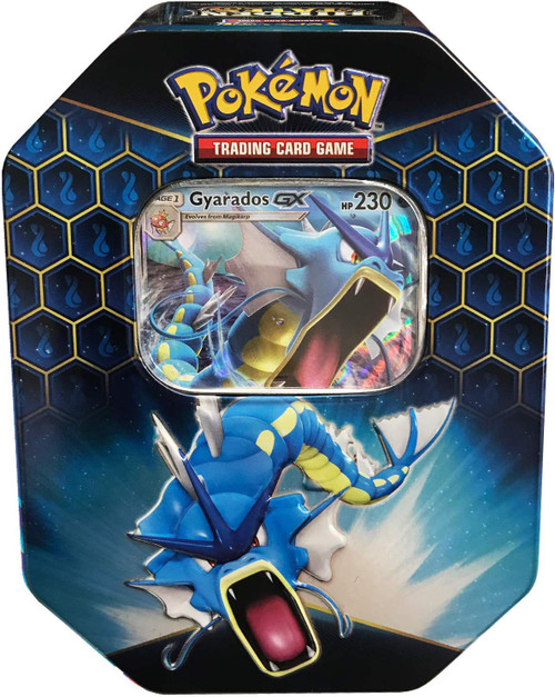 Pokemon Trading Card Game Sun & Moon Hidden Fates Gyarados-GX Tin [4 Booster Packs & Promo Card]